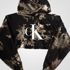 Reworked CK Dye Crop Hoody ($48) ❤ liked on Polyvore featuring tops, hoodies, cropped hooded sweatshirt, cropped tops, sweatshirt hoodies, hoodie crop top and cut-out crop tops