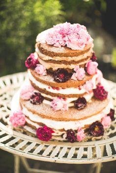 Zuckerrosen Naked Cake von Petra Roth | Foto: Hannah L | Lebendige Fotografie