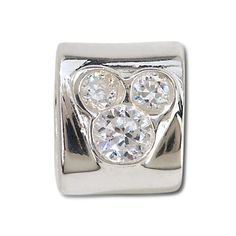 Sterling Silver CZ Mickey Mouse Chamilia Charm -- Clear   Jewelry   Disney Store