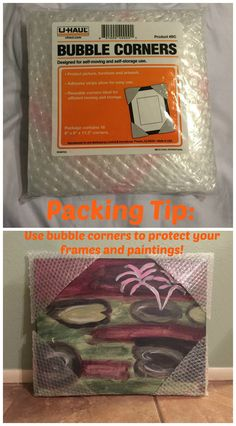 Use Bubble Corners to protect picture frames, paintings, and other artwork during your move | Packing Tips