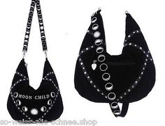 Restyle-Moonchild-Tasche-Mondkind-Samt-Gothic-Handtasche-Hobo-Sack-Bag-Sailor