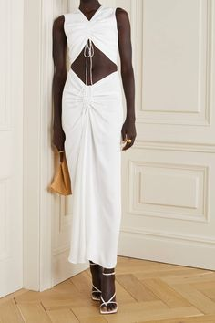 The 6 Spring 2020 Dress Trends That Are In and Out | Who What Wear Fashion News, Girl Fashion, Fashion Dresses, Fashion Design, Maxi Dresses, Christopher Esber, Spring Dresses, Pretty Dresses, Knit Dress