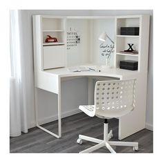 MICKE Corner workstation, white white 39 for dressing room desk in bedroom MICKE Corner workstation - white - IKEA Ikea Linnmon, Ikea Micke, Home Office Design, Home Office Decor, Home Decor, Office Style, Home Design, Corner Workstation, Ikea Desk