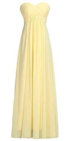 Vantexi Women's Long Pleated Chiffon Evening Bridesmaid Dress -- Insider's special review you can't miss. Read more  : Bridesmaid Dresses