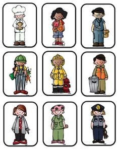 Free Community Helpers Sentences by Preschool Printable | Teachers Pay Teachers