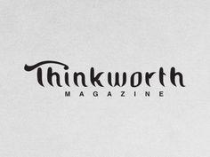 Thinkworth Magazine designed by Marian Pop. Connect with them on Dribbble; Portfolio Logo, Magazine Design, Pop, Popular, Pop Music