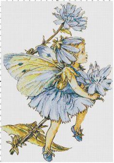 Blue Fairy  Vintage Cross Stitch Pattern  by SnarkyArtCompany