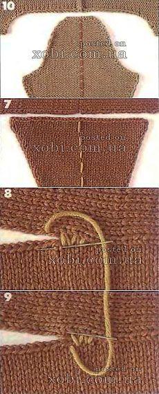 Особенности втачивания рукавов в вязаном изделии..