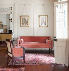 coral or pink used well in rooms