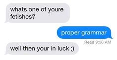 sext gone wrong grammar