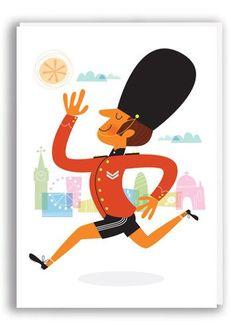 Running Guardsman Card