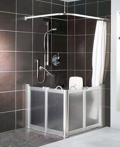 akw option e shower screen 700mm x 1300mm x 900mm high