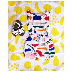 Big Fruits scarf and Matisse playsuit from S2016 collection Der Blaue Reiter
