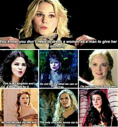 Once Upon A Time is the best show to promote female power, self belief and the fact that you don't need a guy to be badass or tell you you can do it