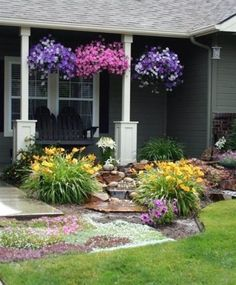 Information about front yard landscaping ideas, simple design for low maintenance garden and house flower small beds landscape with pictures #LandscapingIdeas
