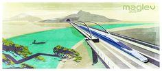"""Mein @Behance-Projekt: """"maglev train illustration"""" https://www.behance.net/gallery/39575953/maglev-train-illustration"""
