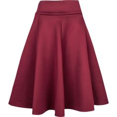 Relaxfeel Women's Simple And Skirts Red ($38) ❤ liked on Polyvore featuring skirts, relaxfeel and red