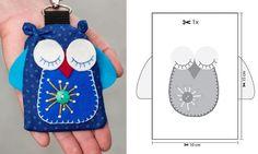 Crear llavero de búho de fieltro Coin Purse, Arts And Crafts, Wallet, Purses, Accessories, Pink, Christmas Presents, Polka Dot Fabric, Blue Nails