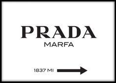 Poster med Prada marfa