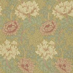 Chrysanthemum tapeter från William Morris® (WM120-01) hos Engelska Tapetmagasinet. ✓ Beställ fraktfritt online ✓ Snabb leverans