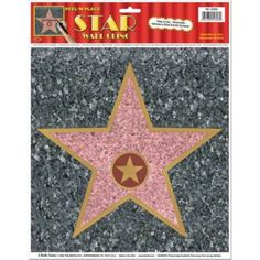 Hollywood Walk Of Fame decal for a movie party from Birthday In A Box
