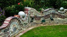 My Homepage - Our garden - Deko ,Garten Garden Deco, Garden Art, Fence Design, Garden Design, Garden Structures, Outdoor Structures, Rustic Outdoor Furniture, Boffi, Outdoor Stone