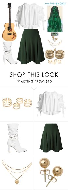 """Sword Art Online Inspired"" by lucy-wolf ❤ liked on Polyvore featuring Caroline Constas, Philosophy di Lorenzo Serafini, Chloé, Bling Jewelry and Sole Society"