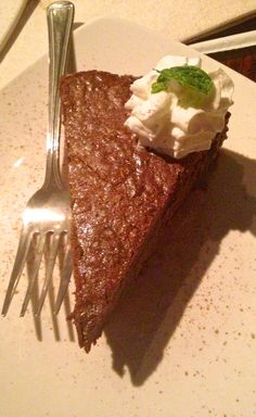 """A meal isn't complete without dessert. How about a slice of Twine's Chocolate Bang Bang cake. What makes it a """"bang bang?"""" The cayenne pepper. However, it's a subtle taste, mixed with the chocolate. Chocolate and heat, how can you go wrong? #latravel, #setravel"""