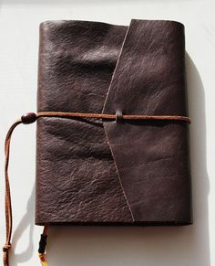 Buffalo Leather Journal LINED Paper Custom Diary by MusedBooks...Gift for our first anniversary <3