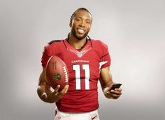 Cardinal's Receiver Larry Fitzgerald appears in Visa's ad.