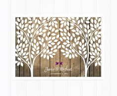 Guest Book, Wedding Guest Book, Guestbook Alternative with 215 Leaves, Wood Guest Book Poster by MooseberryPaperCo on Etsy https://www.etsy.com/listing/183557187/guest-book-wedding-guest-book-guestbook