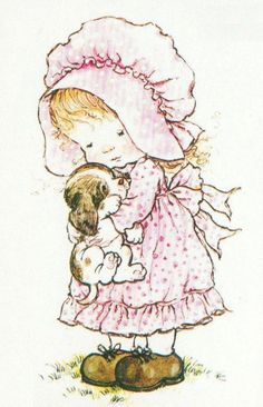 Sarah Kay__little girl holding her puppy Sarah Key, Sara Key Imagenes, Cute Images, Cute Pictures, Mary May, Hobbies For Kids, Holly Hobbie, Illustrations, Cute Illustration