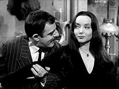 The Addams Family Morticia and Gomez... so in love.
