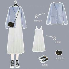 Korean Girl Fashion, Korean Fashion Trends, Korea Fashion, Asian Fashion, Korean Outfit Street Styles, Korean Outfits, Kpop Fashion Outfits, Modest Fashion, Moda Disney