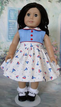 1950's Inspired Dress for American Girl dolls by dancingwithneedles on Etsy $45.00