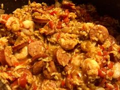 This will be the best jambalaya recipe you will make. Packed full of shrimp, andouille sausage, red bell peppers, and more. Make this recipe as spicy or