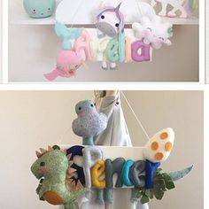 natalieboam Whale Mobile, Fish Mobile, Cot Mobile, Felt Bunting, Felt Name Banner, Name Bunting, Nautical Mobile, Name Plaques, Name Signs