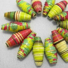 14 paper beads  Let It Shine  by LilithEvy on Etsy, $5.75