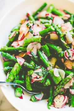 Recipe: Asparagus & Radishes with Mint Quick Side Dish Recipes from The KItchn