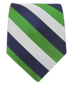 Draper Stripe - Navy/Emerald/Silver | Ties, Bow Ties, and Pocket Squares | The Tie Bar