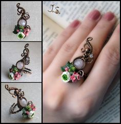 Ring Summer garden by JSjewelry on deviantART.. Gorgeous and SO different!