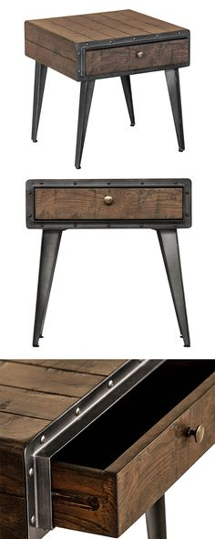Fancy yourself a fan of both mid-century silhouettes and industrial style? This Hennepin Point Nightstand offers a stunning, unexpected blend of these two iconic aesthetics. Its rustic, espresso-finish... Find the Hennepin Point Nightstand in Espresso, as seen in the Chronicles of the Modern Explorer Collection at http://dotandbo.com/collections/chronicles-of-the-modern-explorer?utm_source=pinterest&utm_medium=organic&db_sku=128806