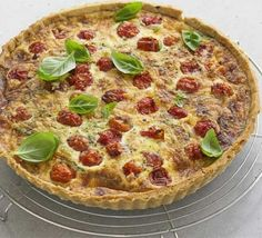 A taste of summer, this quiche is full of Italian flavours and is perfect for dinner in the garden