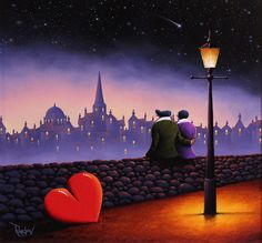'Stargazing' by artist David Renshaw. Avaiable at wyecliffe.com http://wyecliffe.com/collections/david-renshaw-original-art/products/stargazing-david-renshaw