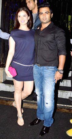 Sachin Joshi with wife Urvashi Sharma at his birthday bash. #Bollywood #Fashion #Style