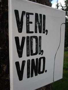 That moment when a latin student (me) corrects this .  Vino isn't latin.