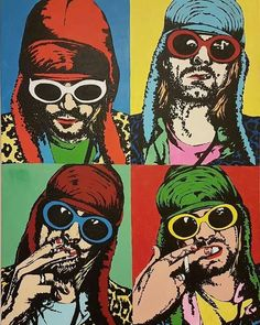 "I'm sorry, great people like the ""grunge king"" should not be depicted by has-beens. Kurt Cobain Art, Nirvana Kurt Cobain, Pop Art, Grunge, Rock And Roll, Nirvana Art, Punk Poster, Plakat Design, Rock Posters"