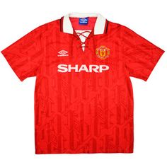 Manchester United Home Shirt (Good) S - Classic Retro Vintage Football Shirts Classic Football Shirts, Vintage Football Shirts, Vintage Jerseys, Manchester United, Retro Vintage, The Unit, Mens Tops, How To Wear