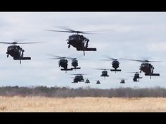 Helicopters Invasion! 101st Airborne Soldiers Disembarking From Black Hawk Helicopters - YouTube