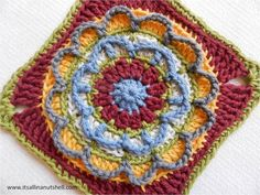 block 8 circles of the sun overlay crochet along CAL